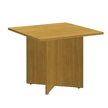 Bush Business 42'' Square Conference Table, Modern Cherry, Installed (99TB3636MCFA)