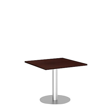Bush Business 42'' Square Conference Table, Harvest Cherry, Installed (99TBD36SCSSVKFA)