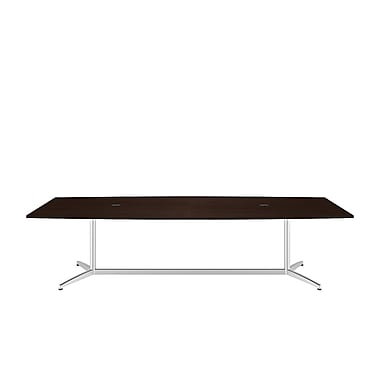 Bush Business 120'' Rectangular Conference Table, Mocha Cherry, Installed (99TBM120MRSVKFA)
