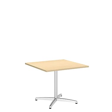 Bush Conf Tables 36in. Square Conf Table - Metal X Base, Natural Maple