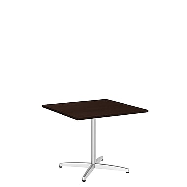 Bush Business 36W Square Conference Table with Metal X Base, Mocha Cherry