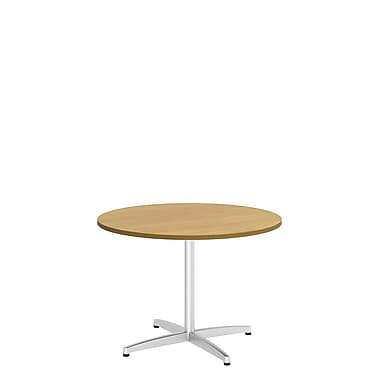 Bush Business 42'' Round Conference Table, Modern Cherry, Installed (99TBX42RMCSVKFA)