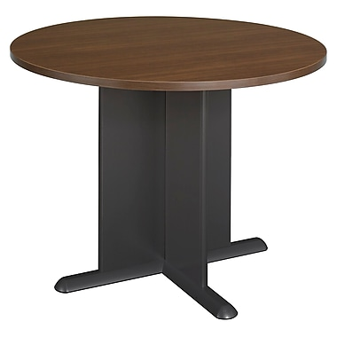 Bush Business 42'' Round Conference Table, Cappuccino Cherry and Graphite Gray (TB25542)