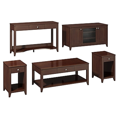 Bush kathy ireland Grand Expressions Family Work-N-Play Collection (47in. TV Stand) Warm Molasses