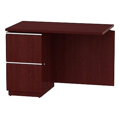 Bush Milano2 42in.W LH Single Pedestal Return (F/F), Harvest Cherry