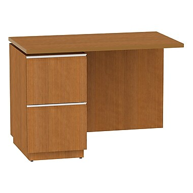 Bush Business Furniture Milano2 42W LH Single Pedestal Return, Golden Anigre (50RL42GAFA)