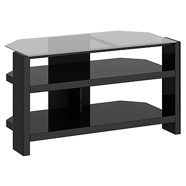 kathy ireland New York Skyline by Bush Furniture 42W TV Stand with Shelves, Modern Mocha