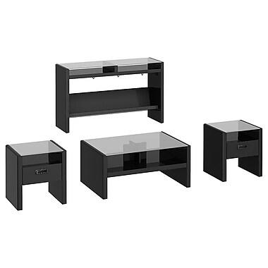 kathy ireland New York Skyline by Bush Furniture Set of (4) Occasional Tables, Modern Mocha