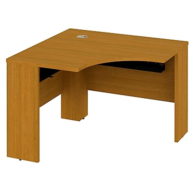 Bush Business Furniture Quantum 42W x 42D Universal Corner Desk, Modern Cherry (QT0442MC)