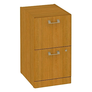 Bush Quantum 2-Drawer Pedestal, Modern Cherry