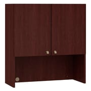 Bush Quantum 36W Tall Hutch with Doors, Harvest Cherry