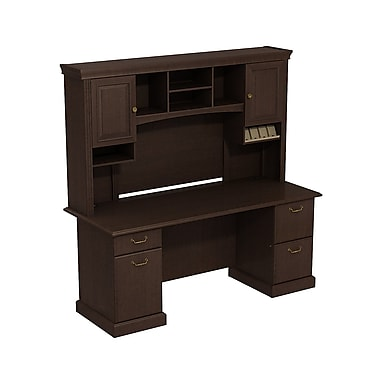 Bush Syndicate Double Pedestal Desk with Hutch, 72.01