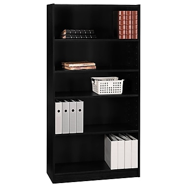 Bush Universal Bookcases, 72in. Bookcase, Classic Black
