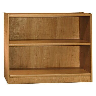 Bush 2-Shelf Bookcase, Snow Maple