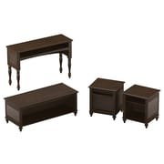kathy ireland Volcano Dusk by Bush Furniture Set of (4) Occasional Tables, Espresso
