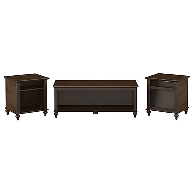 kathy ireland Volcano Dusk by Bush Furniture Set of (3) Occasional Tables, Espresso