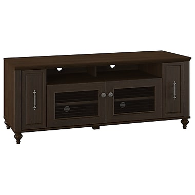 kathy ireland Volcano Dusk by Bush Furniture TV Stand with Pull-out Media Storage, Espresso