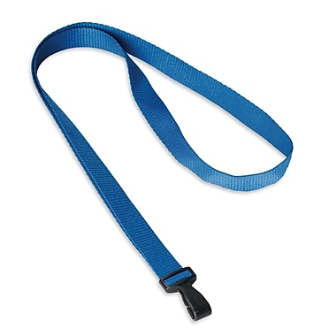 IDville® Adjustable Blank Lanyards, Blue