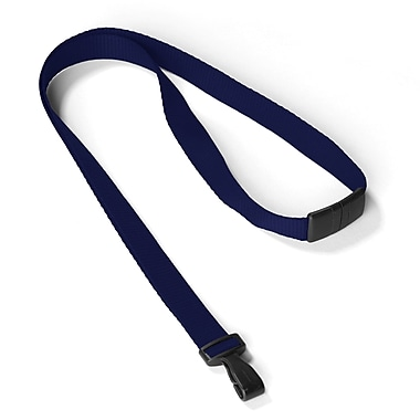 IDville 1346785BL31 35in. Antimicrobial Blank Lanyards, Royal Blue, 25/Pack