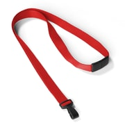 "IDville 1346785RD31 35"" Antimicrobial Blank Lanyards, Red, 25/Pack"