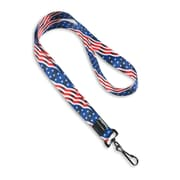 "IDville 1345259STC31 36"" American Flag Pre-Designed Lanyards, Multi, 10/Pack"