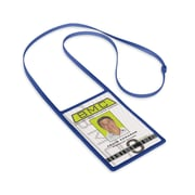 IDville 1346873RB31 Vertical Badge Holders with Flexible Lanyard, Royal Blue, 10/Pack
