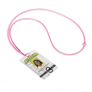 IDville 1346872PK31 Flexible Rope Lanyards, Pink, 10/Pack