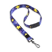 """IDville 1345255BAC31 36"""" Star Making the Difference Lanyards with Breakaway Release, Multi, 10/Pack"""