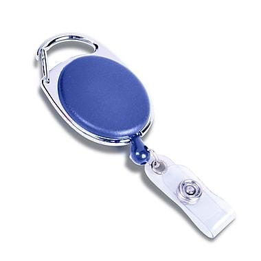 IDville 1343042BL31 Round Slide Clip Carabiner Badge Reels with Safety Stopper, Blue, 25/Pack