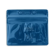 IDville® Horizontal Sealable Badge Holder, Blue