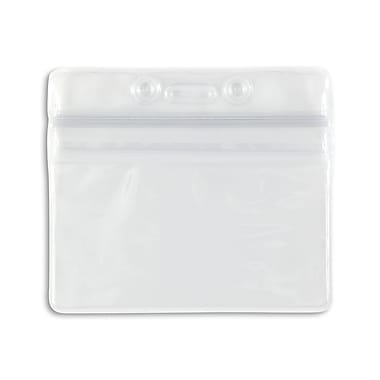 IDville 1347030CL31 Horizontal Sealable Badge Holders, Clear, 50/Pack
