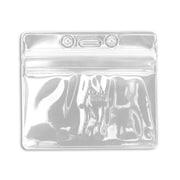 IDville 1347030WT31 Horizontal Sealable Badge Holders, White, 50/Pack