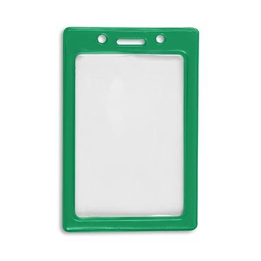 IDville 1347031GR31 Vertical Color Frame Badge Holders, Green, 50/Pack