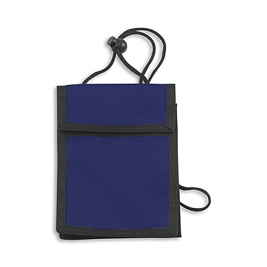 IDville 1346667BL31 Expandable Badge Holders, Navy Blue, 25/Pack