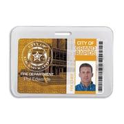 IDville 134528031 Anti-Print Transfer Horizontal Badge Holders, White, 50/Pack