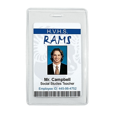 IDville® Anti-Print Transfer Vertical Badge Holder