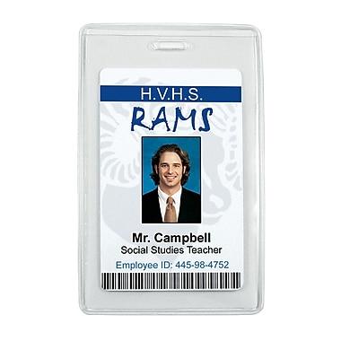 IDville® Anti-Print Transfer Vertical Badge Holder