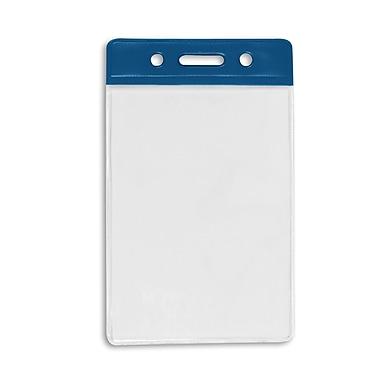 IDville 1345266RB31 Vertical Color Bar Badge Holders, Royal Blue, 50/Pack