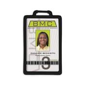 IDville 1341224BK31 Vertical Badge Holders, Black, 10/Pack