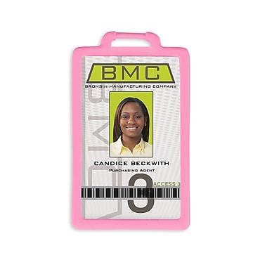IDville 1341224PK31 Vertical Badge Holders, Pink, 10/Pack