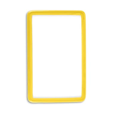IDville 1347575YL31 Flexible Translucent PVC Frame ID Guards, Yellow, 25/Pack