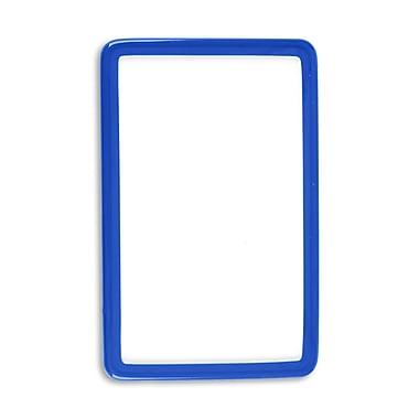 IDville 1347575BL31 Flexible Translucent PVC Frame ID Guards, Blue, 25/Pack