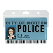 IDville® Horizontal Swipe Card Badge Holder