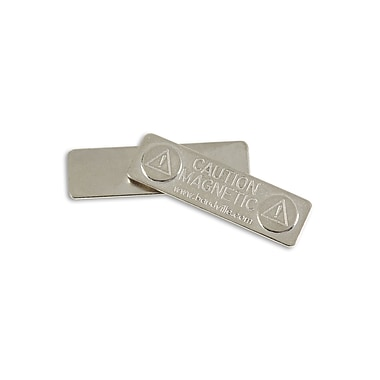 IDville 134260631 Adhesive Magnet ID Badge Clips, Silver, 25/Pack