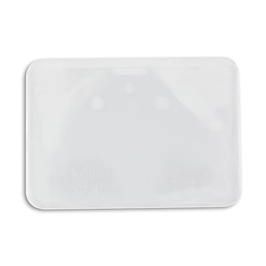 IDville® Clear Vinyl Horizontal Credit Card Size Badge Holder With Slot