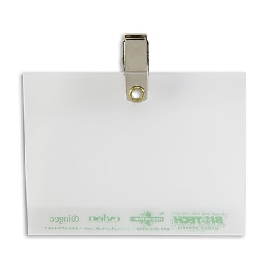 IDville® Biodegradable Badge Holder With Pin/Clip
