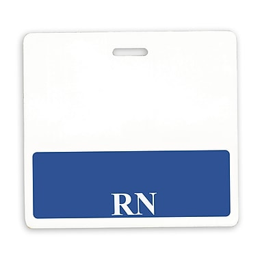 IDville 134254431 RN Position Identity Cards, White/Blue, 25/Pack