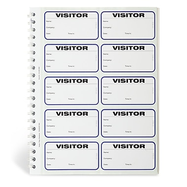 IDville® Spiral-Bound Temporary Visitor Login Book
