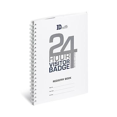 IDville 134678431 Visitor Pass Standard Login Book, White/Blue