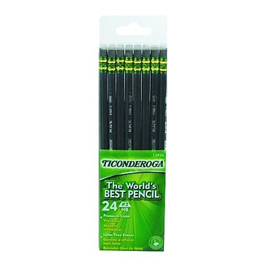 Dixon Ticonderoga #2 Soft Pencil, Black, 24/Pack